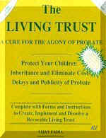Revocable living trust kit forms, probate, inheritance.